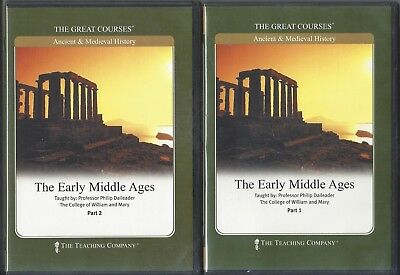 Great Courses The Early Middle Ages Parts 1 & 2 w/ Course Guide Text Book 12 cds
