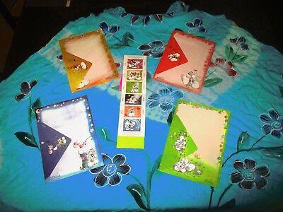 Diddl Rare  Papier A Lettre Et Timbres Complet  Neuf  N°  87  88  89  90