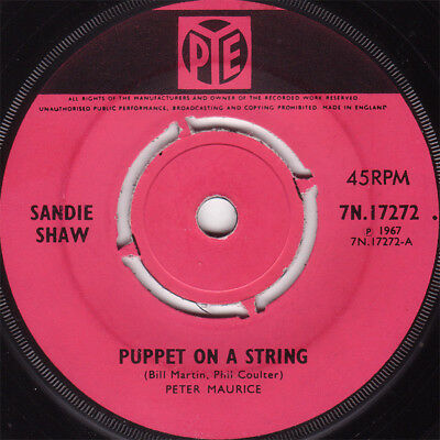 """Sandie Shaw - Puppet On A String, 7"""", Single, Kno, (Vinyl)"""