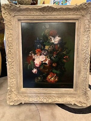 Signed Terence Alexander Floral Still Life.  Oil  Painting On Wood. 1900-1949.