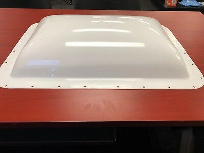 """RV Skylight  White Outer Dome 14"""" X 22"""" Opening.  18"""" x 26"""" outer flange"""