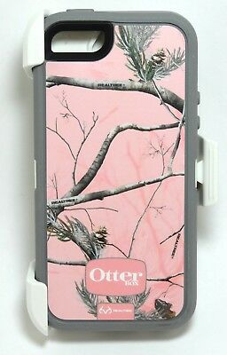 Genuine Otterbox Defender Case/Holster for iPhone 6S/6, Realtree Camo Ap Pink