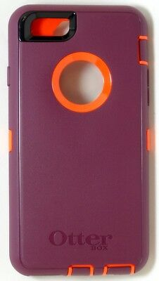 Genuine OtterBox Defender Case for iPhone 6/6s, Damson Purple/Orange (Case Only)