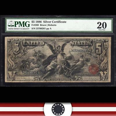 1896 $5 Silver Certificate PMG 20 Fr 269 *EDUCATIONAL NOTE*  23790261