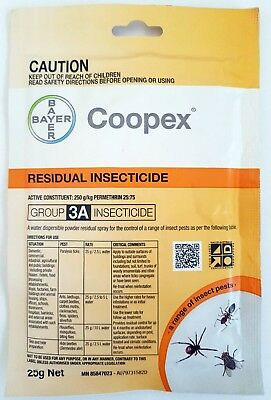 Coopex Water Soluble Residual Insecticide 25g sachet - effective vs most pests