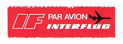 Interfflug Airlines - Scarce Old 1971 Airmail Label Cat #gdr-B-3 (Am44)