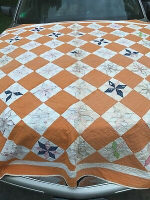 Antique Quilt Star Country Hand Made