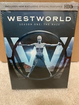 WESTWORLD: The Complete First Season 1 (HBO 3-Disc DVD Boxed Set, 2017) ~ NEW