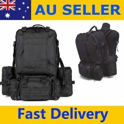 New Large Backpack SWAT Molle Army Tactical Military Style Assault Black Tough