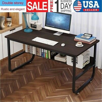 "47"" Computer Desk Laptop Table Wood PC Workstation Study Home Office Furniture"