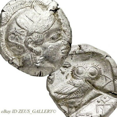 ATHENA Owl ATTICA Athens Greece Tetradrachm Ancient Greek Silver Coin 440 BC