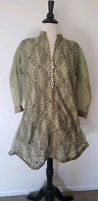 Pakistani/ indian party dress Net kurti With Embroidery  front .