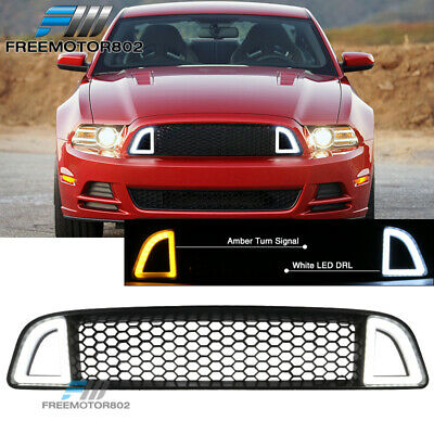 Fits 13-14 Ford Mustang Non-Shelby Front Upper LED Grille
