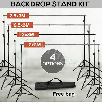 4Size Heavy Duty Backdrop Stand Kit Background Support Photography Studio Photo
