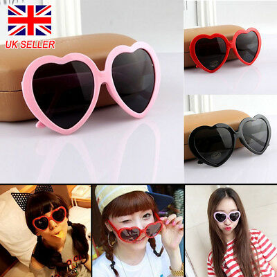 New Retro Love Heart Shaped Sunglasses Large Fashion Fancy Dress Party Hen Night