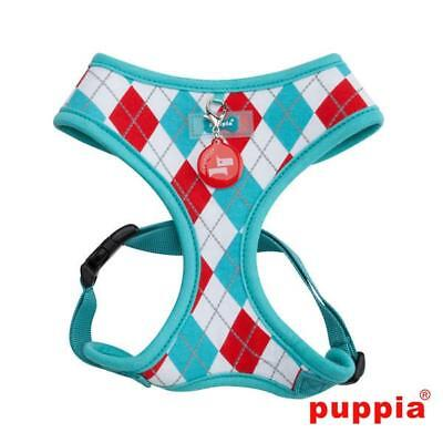 Puppia Argyle Aqua Dog Harness