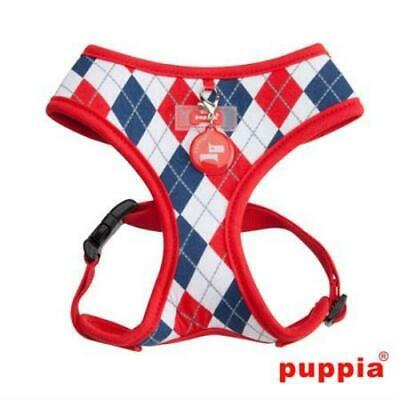 Puppia Argyle Red Dog Harness