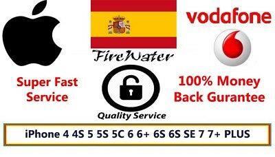 Spain Vodafone fast Unlocking code service iPhone 5 5S C 6 6+ 6S 6S SE 7 7+ PLUS