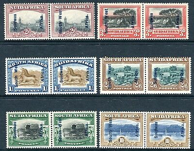 SOUTH WEST AFRICA-1927  A mounted mint set to 10/- Sg 49-54