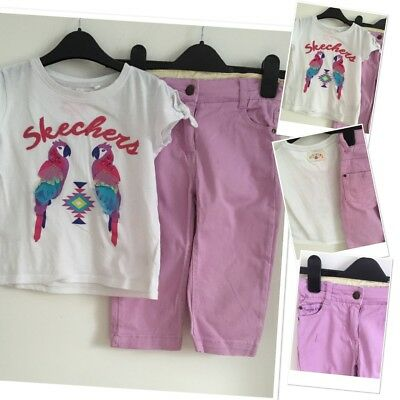 Sugar Pink Sketchers Girls Summer Outfit 4-5 Years