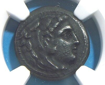 Authentic Greek coin of Alexander III The Great 336-323 BC, Lifetime  NGC XF 007