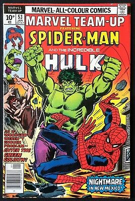 Marvel Team-Up #53 Spider-Man Hulk 1st John Byrne X-Men 1976 Very Good Condition