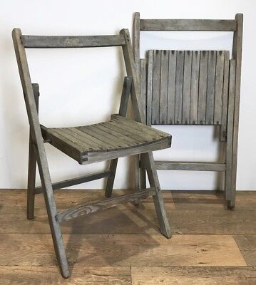 Wwii Period Wooden Folding Mess Room Chairs