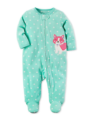d344ffdf0 CARTER S BABY GIRLS  Fleece Sleep N  Play Red Dots Christmas ...