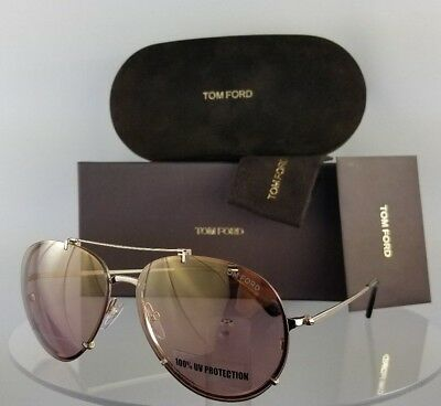 Brand New Authentic Tom Ford Sunglasses FT TF 527 28Z Dickon 61mm Frame TF0527