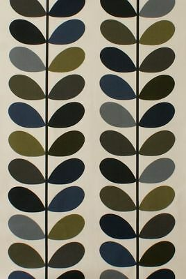 Designer Orla Kiely Multi Stem Moss Cotton Curtain Upholstery Craft Fabric