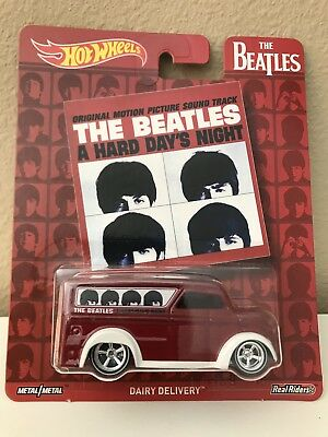 HOT WHEELS 1/64 POP CULTURE 2017 THE BEATLES DAIRY DELIVERY NEW c