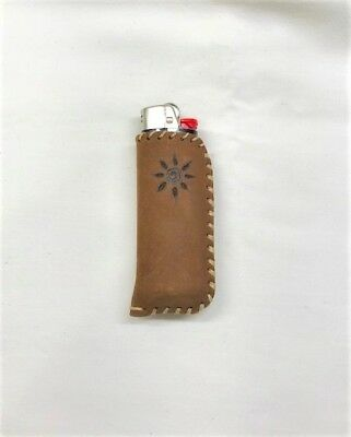 Zippo lighter case leather python snake handmade LC1 BIKELIST