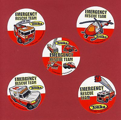 10 Tonka Medical Emergency Rescue - Large Stickers - Ambulance, Helicopter