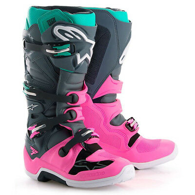 Alpinestar Tech 7 Motocross Mx Enduro Boots - Limited Edition Indy Vice Pink