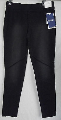 CALVIN KLEIN JEANS 29 BLACK PULL-ON KNIT JEAN LEGGINGS jeans denim