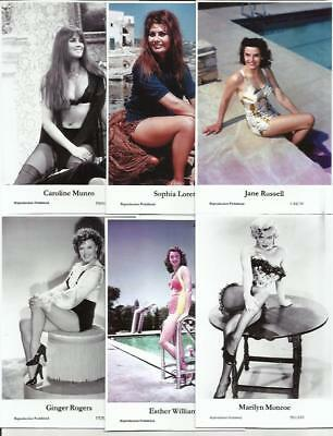 Bx5) Swiftsure Photo Postcards Film Star Glamour Movie Pin Ups Choose From List