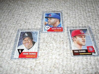 Topps Living Set #133 Frank Thomas #134 Trea Turner #135 Devon Travis