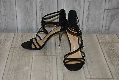 Imagine Vince Camuto Black Beaded Strappy Pumps Size 5.5m Oos Heels