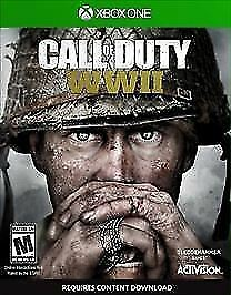 Call of Duty: WWII (Microsoft Xbox One, 2017) In Game Case With Game