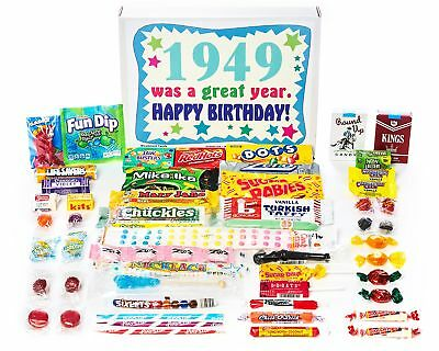 Woodstock Candy ~ 1949 70th Birthday Gift Box of Nostalgic Retro Candy Assort...