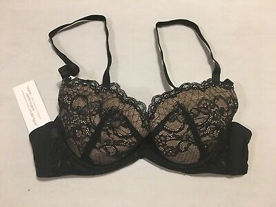5487f42af0 B90 Ariette by The Little Bra Company BLACK Lace Padded PushUp Bra 34A  PETITE