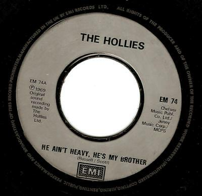 THE HOLLIES He Ain't Heavy, He's My Brother Vinyl Record 7 Inch EMI EM 74 1988