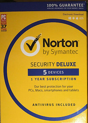 Norton Security Deluxe  2019  for 5 Devices (code only)