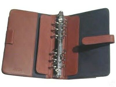 Genuine leather tan notebook 6 ring cover with insert pages & Zebra Pencil
