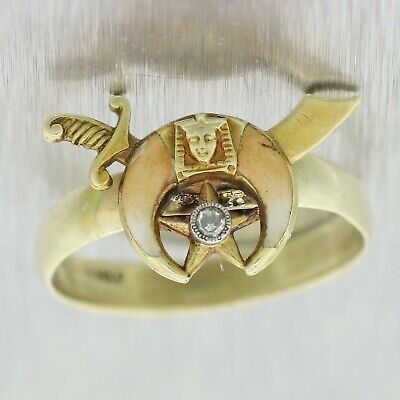 1880s Antique Victorian Egyptian Revival Band Ring B9