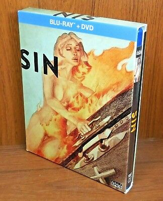 Sin w/ Slip Cover and Book (Blu Ray / DVD, 2-Disc, 2016)