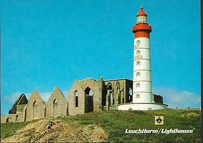 Cape St. Mathieu, Brittany, France - Lighthouse - German postcard c.1980s