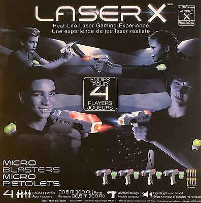 NEW Laser X Micro Blasters Real-Life Laser Gaming Experience Equips 4 Players
