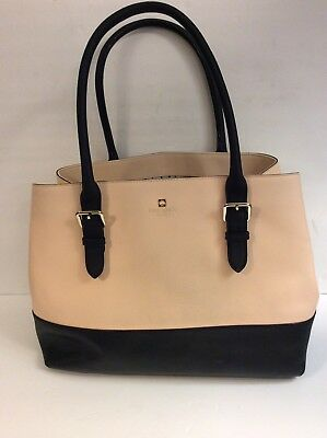 c4687239c595 Kate Spade COVE STREET AIREL Large Saffiano Leather Tote Light Pink And  Black