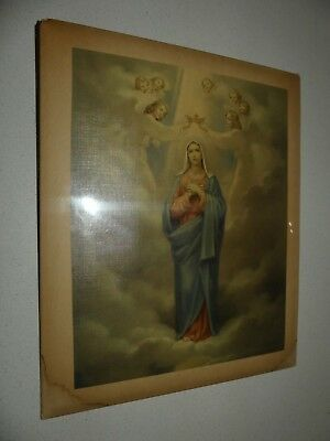 Vintage celluloid picture Mary and angels